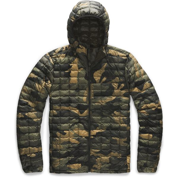 MEN'S THERMOBALL™  ECO HOODIE, BURNT OLIVE GREEN WAXED CAMO PRINT, hi-res