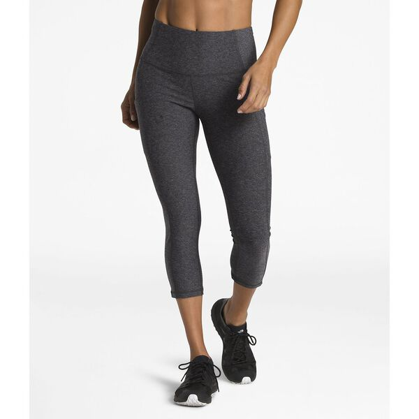 WOMEN'S MOTIVATION HIGH-RISE POCKET CROP, TNF DARK GREY HEATHER, hi-res