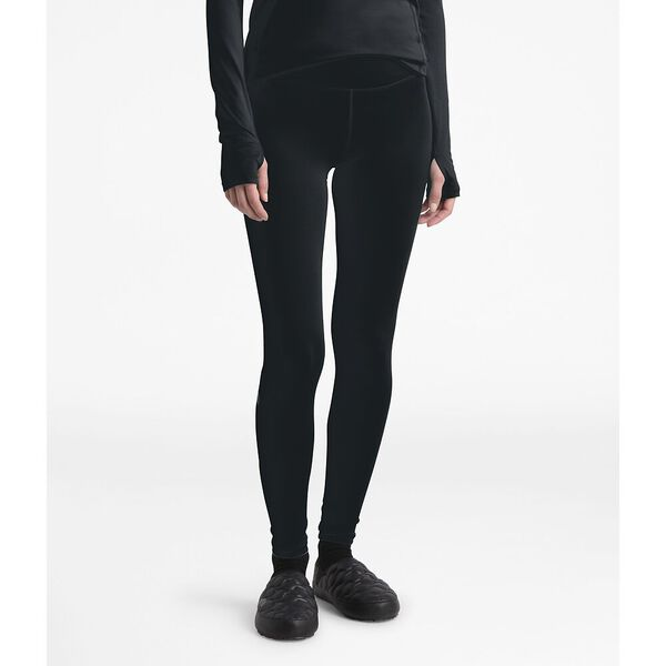 Women's Warm Poly Tights, TNF BLACK, hi-res