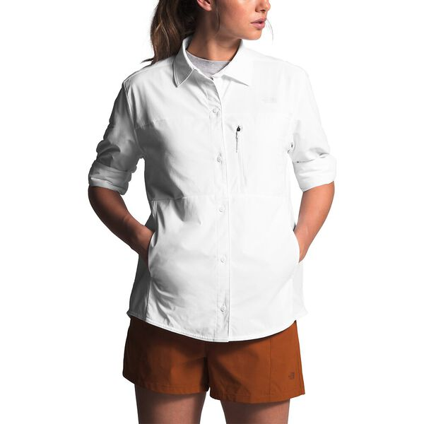 Women's Outdoor Trail Long-Sleeve Shirt, TNF WHITE, hi-res