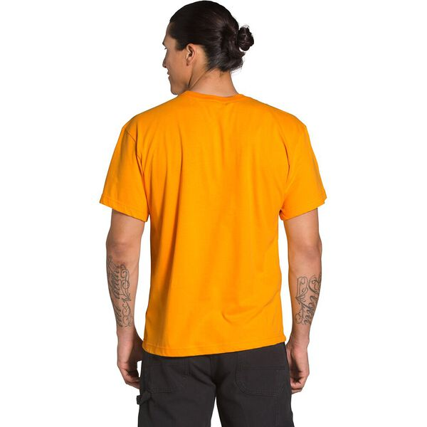 Men's Short-Sleeve Brand Stand Tee, SUMMIT GOLD/CLEAR LAKE BLUE, hi-res