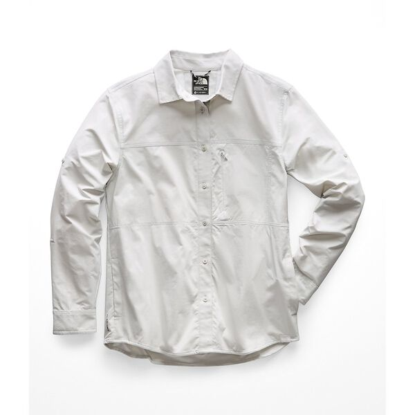 WOMEN'S BOREAZ L/S ROLL-UP SHIRT, TIN GREY, hi-res