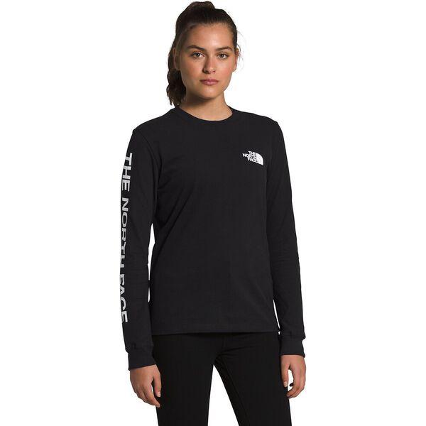 Women's Long-Sleeve Brand Proud Tee, TNF BLACK/TNF WHITE, hi-res