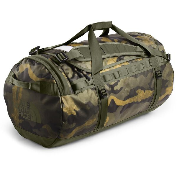 BASE CAMP DUFFEL - L, BURNT OLIVE GREEN WAXED CAMO PRINT/BURNT OLIVE GREEN, hi-res