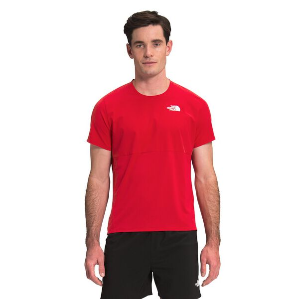 Men's True Run Short-Sleeve Shirt, TNF RED, hi-res