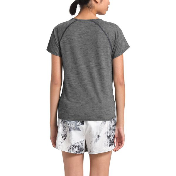 Women's Active Trail Jacquard Short-Sleeve, TNF DARK GREY HEATHER, hi-res