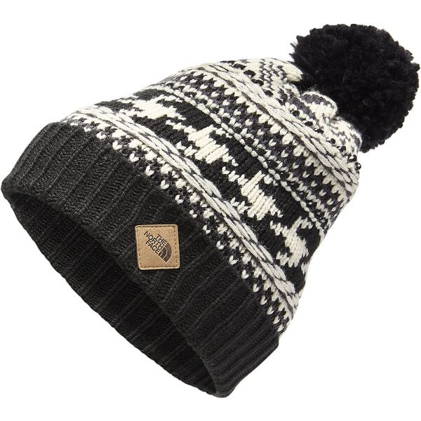 FAIR ISLE BEANIE, WEATHERED BLACK/VINTAGE WHITE MULTI, hi-res