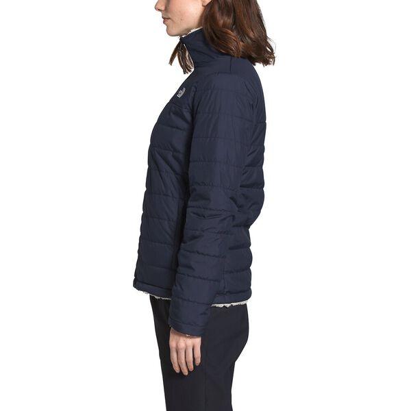 Women's Mossbud Insulated Reversible Jacket, AVIATOR NAVY/VINTAGE WHITE, hi-res