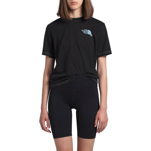 Women's Short-Sleeve Dome Climb Tee, TNF BLACK/ANGEL FALLS BLUE, hi-res