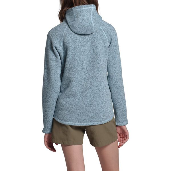 Women's Crescent Hooded Pullover, ANGEL FALLS BLUE HEATHER, hi-res