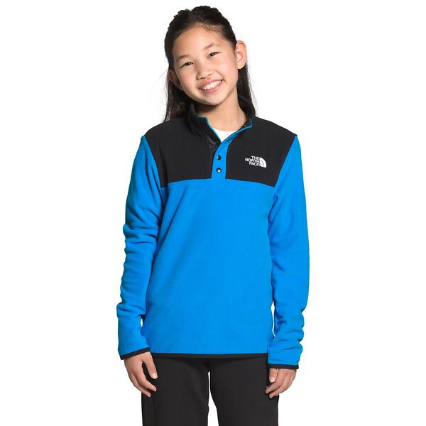 Youth TKA Glacier ¼ Snap Pullover, CLEAR LAKE BLUE, hi-res