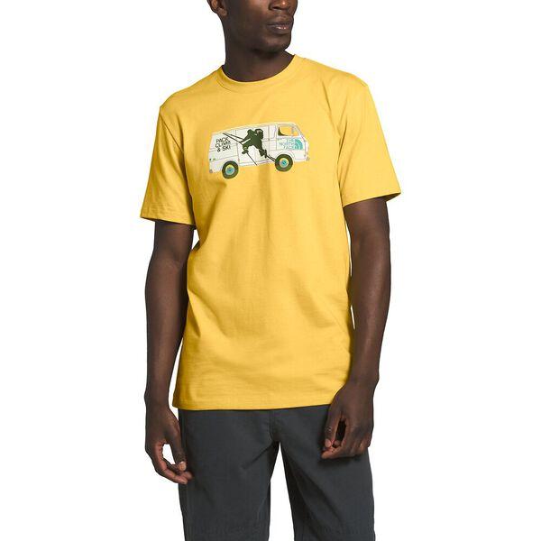 Men's Short-Sleeve Outdoor Free Tee, BAMBOO YELLOW, hi-res