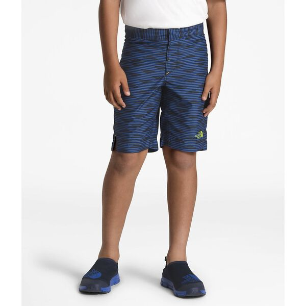 BOYS' AMPHIBIOUS SHORT, TURKISH SEA MOUNTAIN STRIPE PRINT, hi-res
