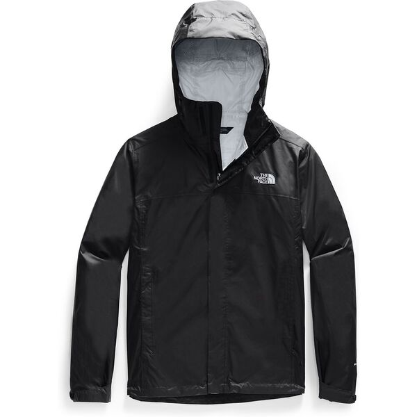 Men's Venture 2 Jacket, TNF BLACK/TNF BLACK/MID GREY, hi-res