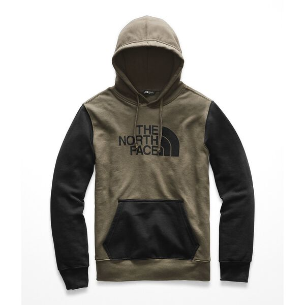 MEN'S HALF DOME HOODIE, NEW TAUPE GREEN/TNF BLACK, hi-res