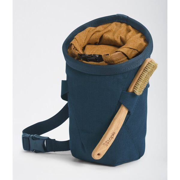 North Dome Chalk Bag, MONTEREY BLUE-TIMBER TAN LIGHT HEATHER, hi-res