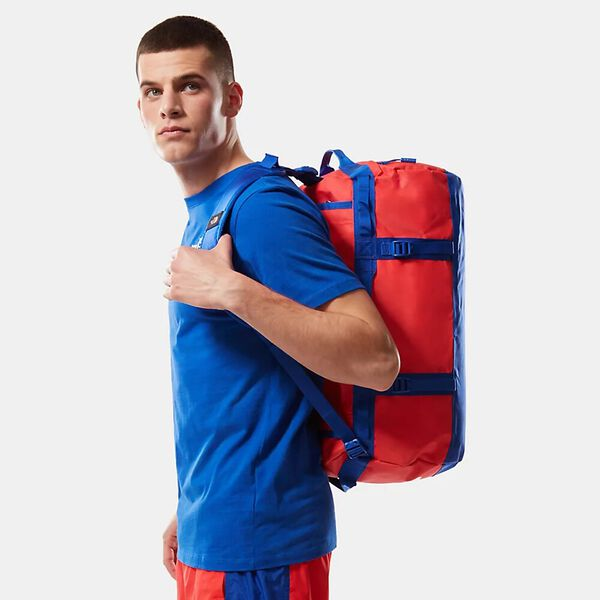 Base Camp Duffel - S, HORIZON RED/TNF BLUE, hi-res