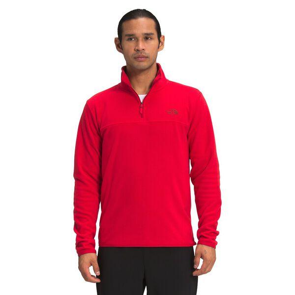 Men's TKA Glacier Fleece ¼ Zip, TNF RED, hi-res