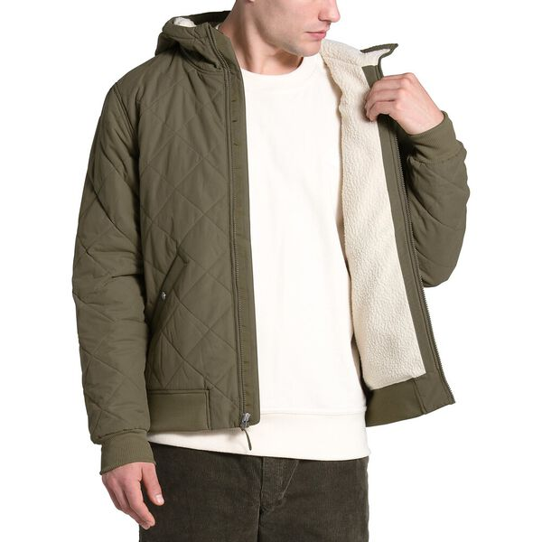 Men's Cuchillo Insulated Full Zip Hoodie, BURNT OLIVE GREEN, hi-res