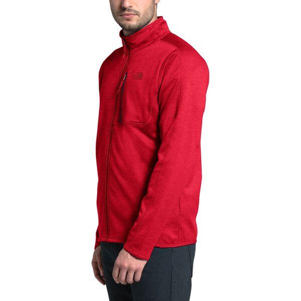 Men's Canyonlands Fleece Full Zip Jacket, TNF RED HEATHER, hi-res