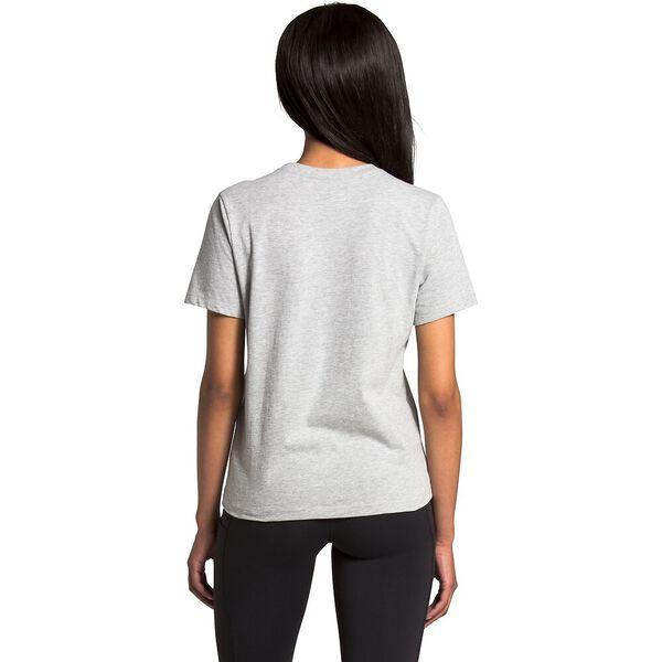Women's Short-Sleeve Half Dome Cotton Tee, TNF LIGHT GREY HEATHER/TNF BLACK, hi-res