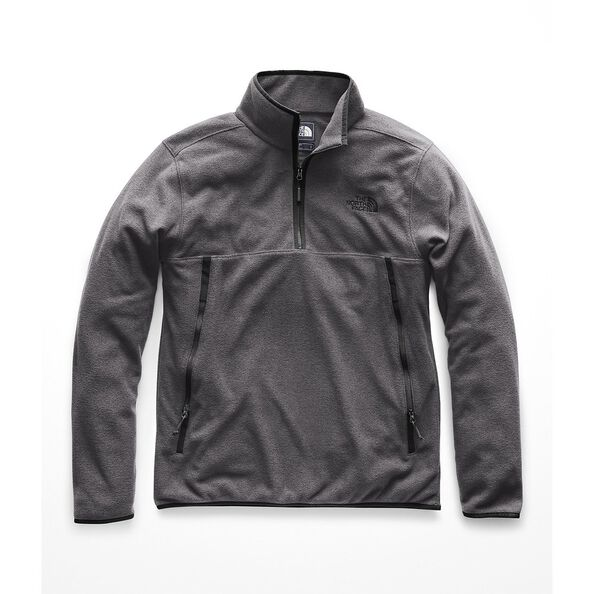 MEN'S GLACIER ALPINE 1/4 ZIP, TNF DARK GREY HEATHER, hi-res