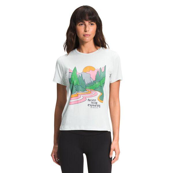 Women's Short-Sleeve Adventure Tee, TIN GREY, hi-res