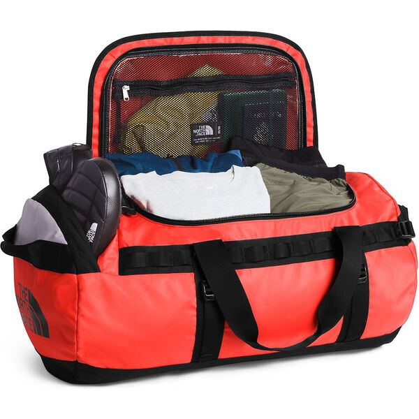 Base Camp Duffel - M, FLARE/TNF BLACK, hi-res