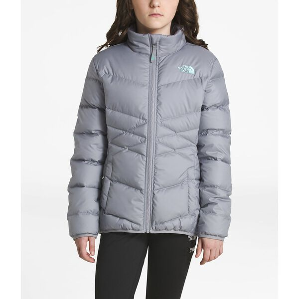 GIRLS'ANDES DOWN JACKET, MID GREY, hi-res