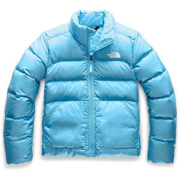 GIRL'S ANDES DOWN JACKET, TURQUOISE BLUE, hi-res