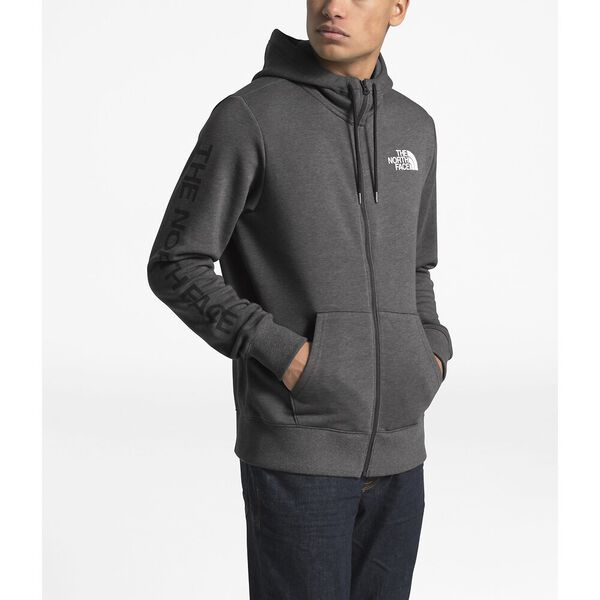MEN'S BRAND PROUD FULL ZIP HOODIE, TNF DARK GREY HEATHER, hi-res