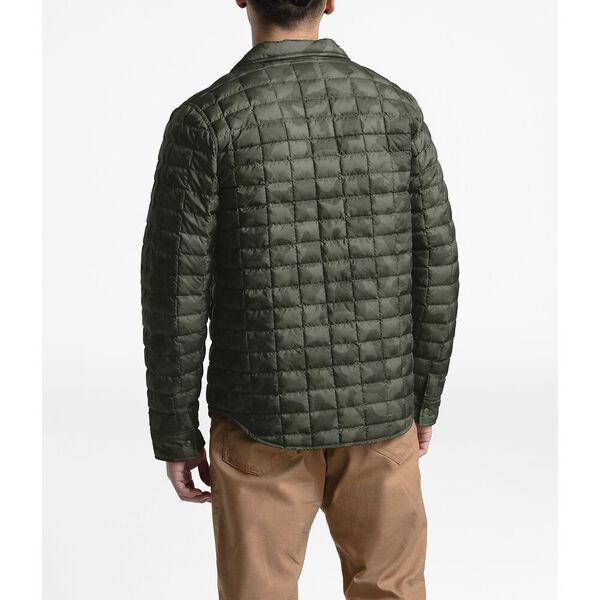 MEN'S THERMOBALL™ ECO SNAP JACKET, NEW TAUPE GREEN OVERSIZED CAMO PRINT, hi-res