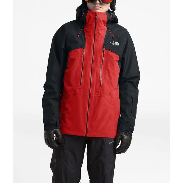 Men's Powderflo Jacket, FIERY RED/TNF BLACK, hi-res