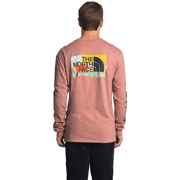 Men's Long-Sleeve Rogue Graphic Tee, PINK CLAY, hi-res