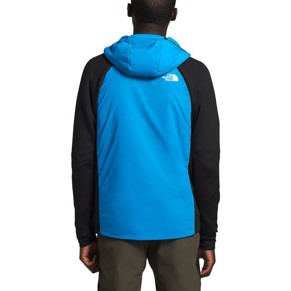 Men's Ventrix™ Active Trail Hybrid Hoodie, CLEAR LAKE BLUE/TNF BLACK, hi-res