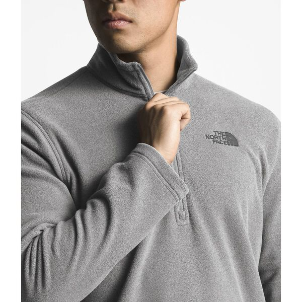 MEN'S TKA 100 GLACIER 1/4 ZIP, TNF MEDIUM GREY HEATHER, hi-res