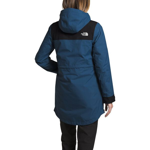 Women's Metroview Trench, SHADY BLUE/TNF BLACK, hi-res