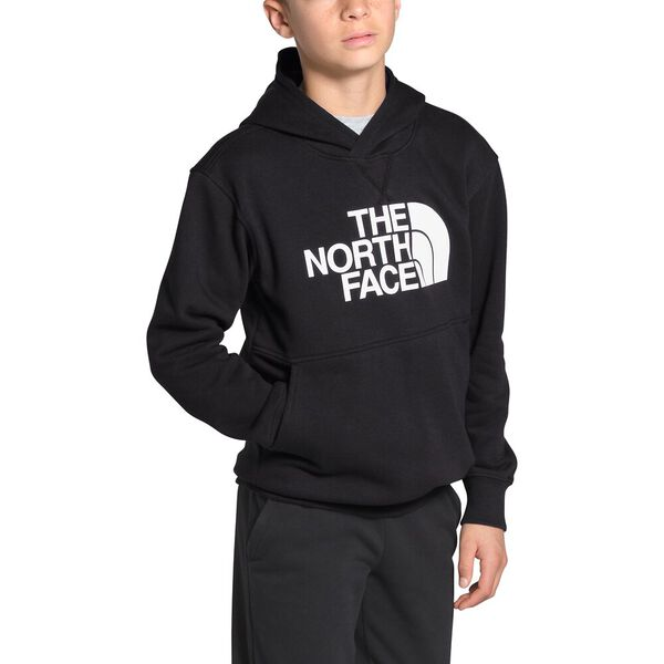 Boys' Essential Pullover Hoodie, TNF BLACK/TNF WHITE, hi-res