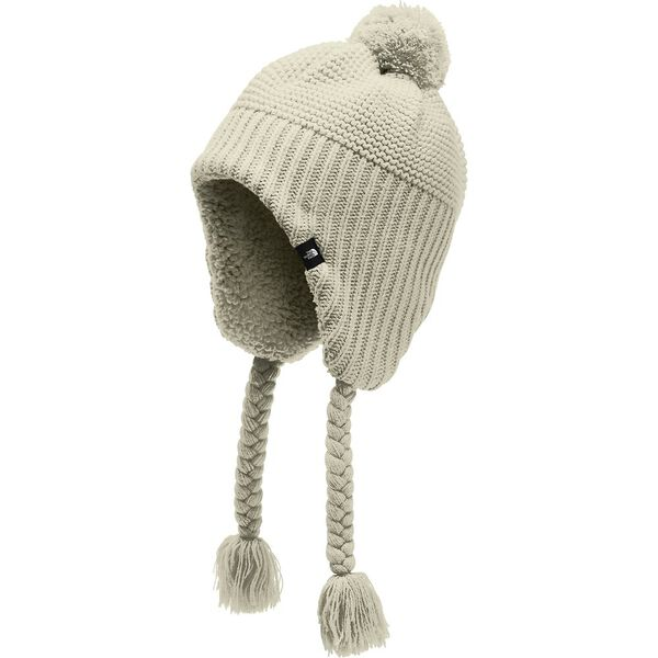 Girls' Purrl Stitch Earflap Beanie