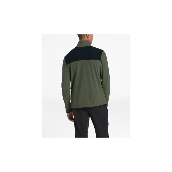 Men's TKA Glacier Snap-Neck Fleece, NEW TAUPE GREEN/TNF BLACK, hi-res