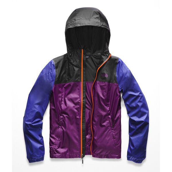 Women's Cyclone Jacket, PHLOX PURPLE-TNF BLACK, hi-res