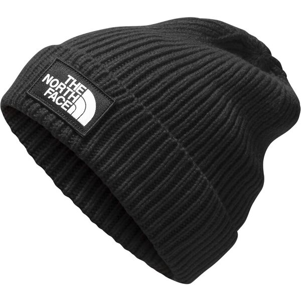 TNF™ Logo Box Cuffed Beanie, TNF BLACK, hi-res