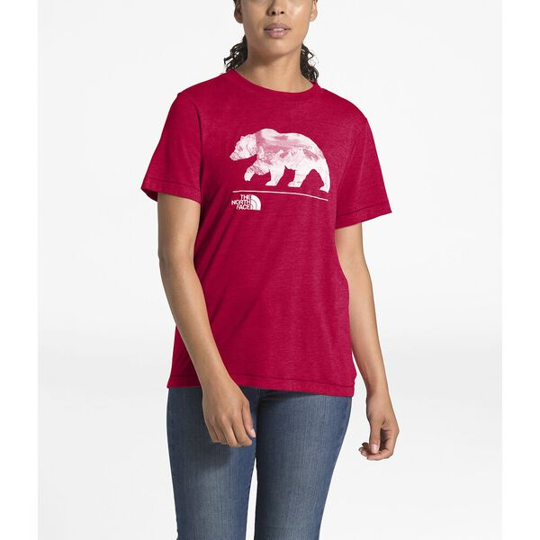 Women's Short-Sleeve Bearinda Tri-Blend Tee, TNF RED HEATHER, hi-res
