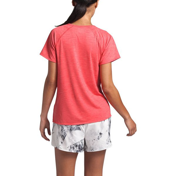 Women's Active Trail Jacquard Short-Sleeve, CAYENNE RED HEATHER, hi-res