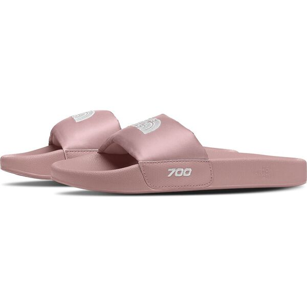Women's Nuptse Slides, PINK CLAY/TNF WHITE, hi-res
