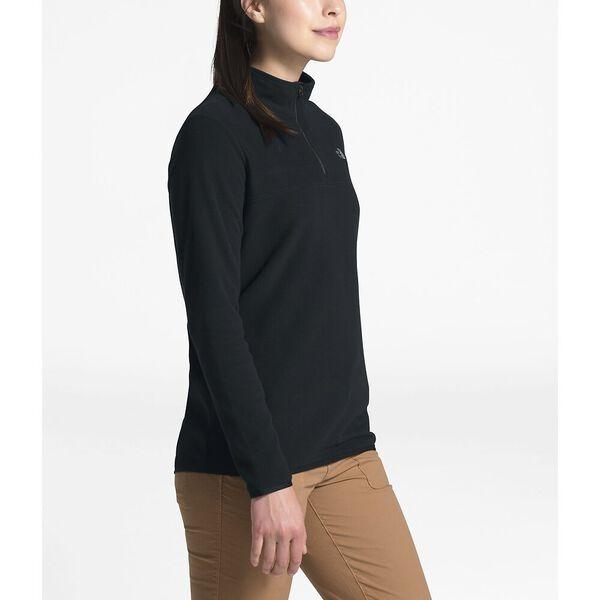 Women's TKA Glacier Fleece ¼ Zip, TNF BLACK/TNF BLACK, hi-res