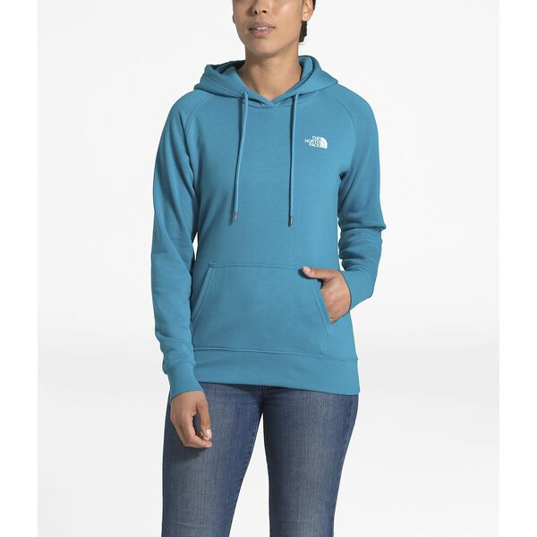 Women's Red Box Pullover Hoodie, BARRIER REEF BLUE/TNF WHITE, hi-res