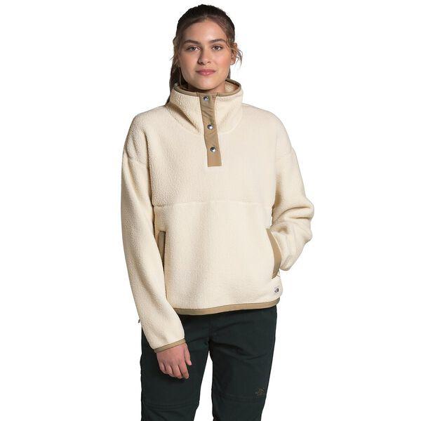 Women's Cragmont Fleece ¼ Snap, BLEACHED SAND/HAWTHORNE KHAKI, hi-res