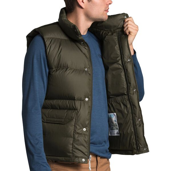 Men's Sierra Down Vest, NEW TAUPE GREEN, hi-res