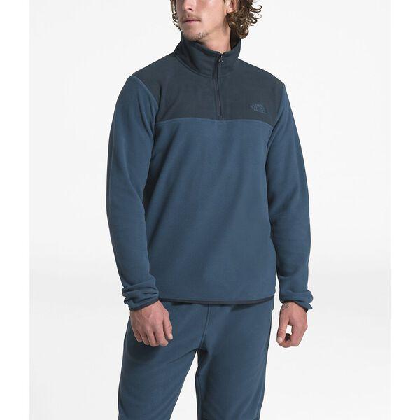 Men's TKA Glacier ¼ Zip, BLUE WING TEAL/URBAN NAVY, hi-res
